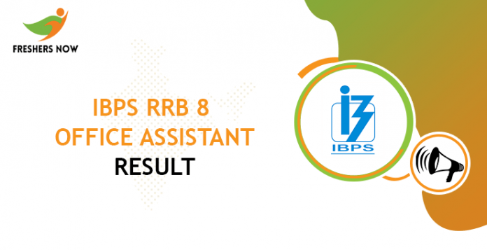 IBPS RRB 8 Office Assistant Result