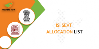 ISI Seat Allocation List