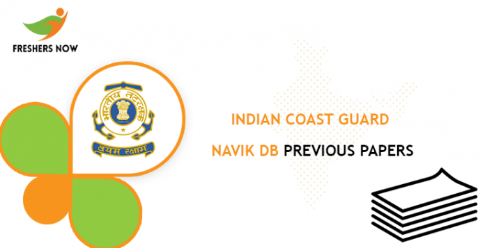 Indian Coast Guard Navik DB Previous Question Papers