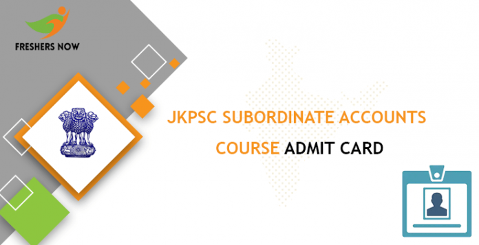 JKPSC Subordinate Accounts Course Admit Card