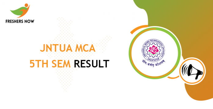 JNTUA MCA 5th Sem Result