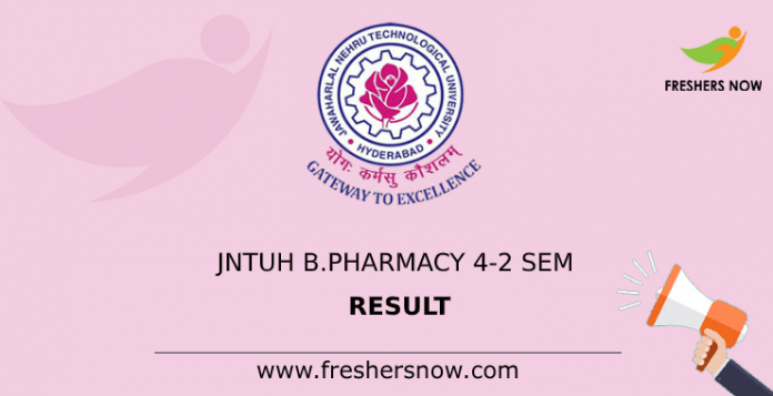 JNTUH B.Pharmacy 4-2 Sem Result