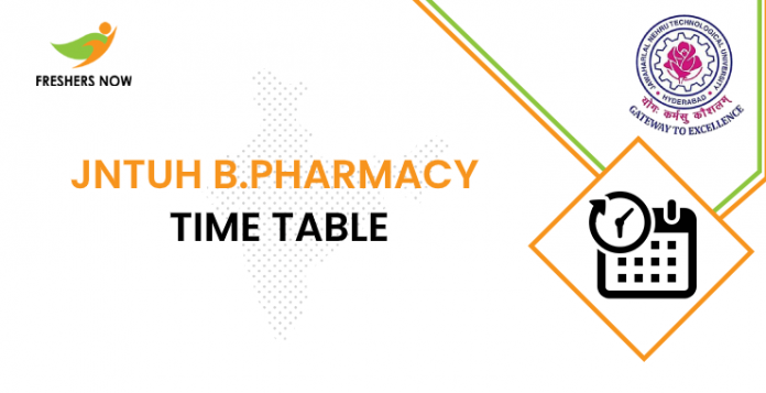 JNTUH B.Pharmacy Time Table
