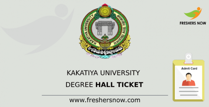 Kakatiya University Degree Hall Ticket