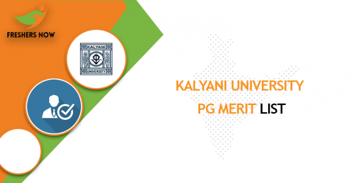 Kalyani University PG Merit List