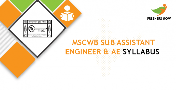 MSCWB Sub Assistant Engineer & AE Syllabus