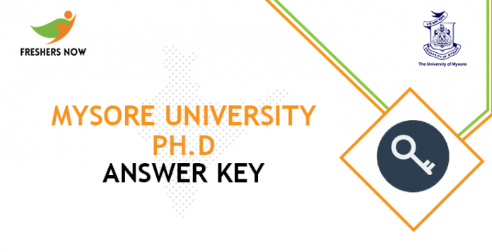 Mysore University Ph.D Answer Key