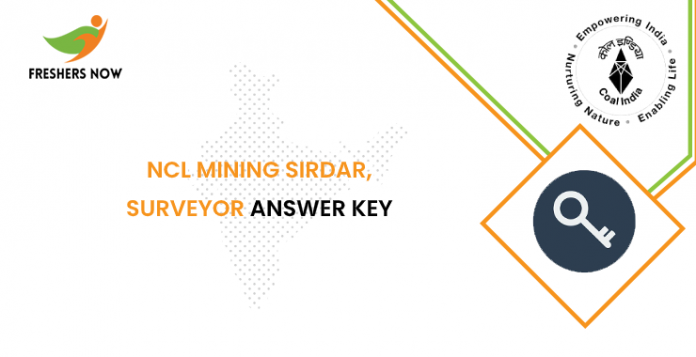 NCL Mining Sirdar, Surveyor Answer Key