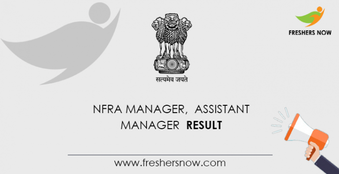 NFRA Manager, Assistant Manager Result