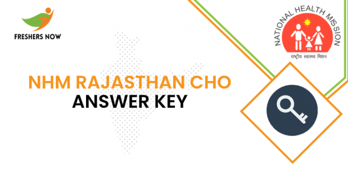 NHM Rajasthan CHO Answer Key