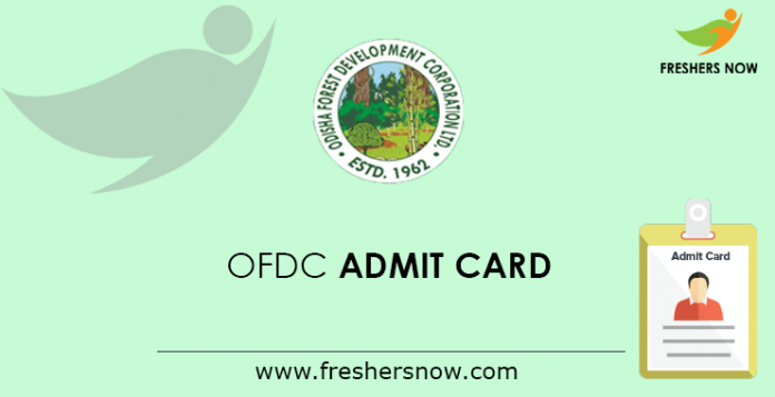 OFDC Lower Division Assistant Admit Card