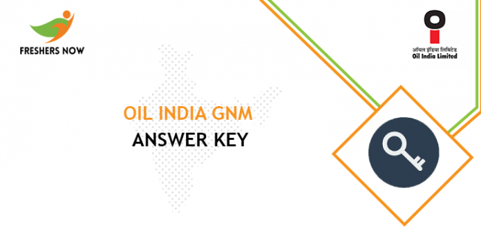 Oil India GNM Nursing Answer Key