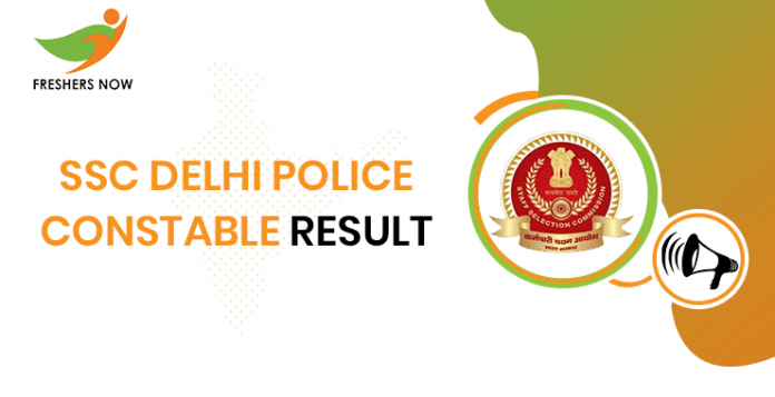 Result of SSC Delhi Police Officer
