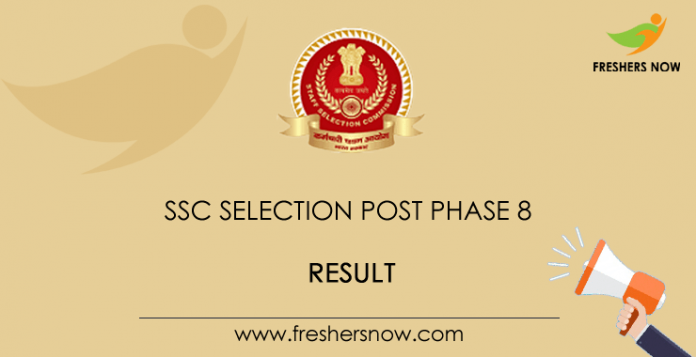 SSC Selection Post Phase 8 Result