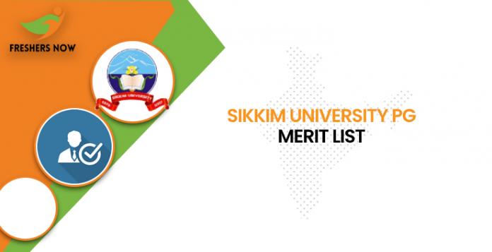 Sikkim University PG Merit List