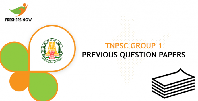 TNPSC Group 1 Previous Question Papers