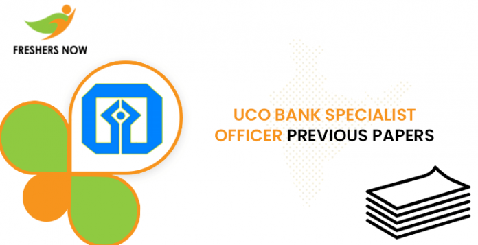 UCO Bank Specialist Officer Previous Question Papers