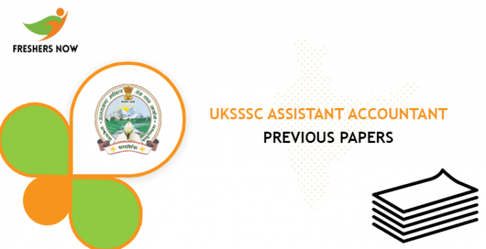 UKSSSC Assistant Accountant Previous Question Papers