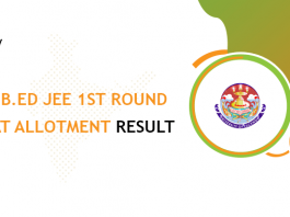 UP B.Ed JEE 1st Roud Seat Allotment Result