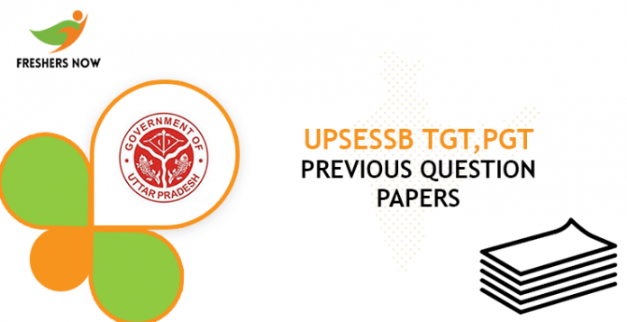 UPSESSB TGT, PGT Previous Question Papers