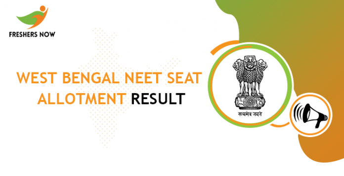 West Bengal NEET Seat Allotment Result