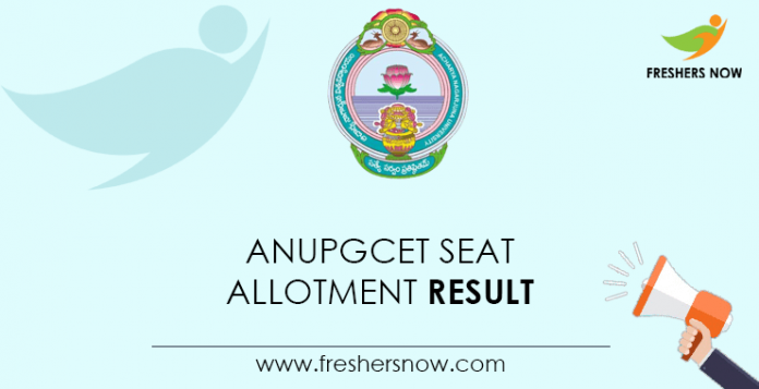 ANUPGCET Seat Allotment Result
