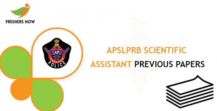 APSLPRB Scientific Assistant Previous Question Documents