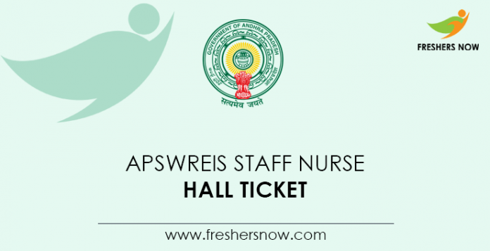 APSWREIS-Staff-Nurse-Hall-Ticket