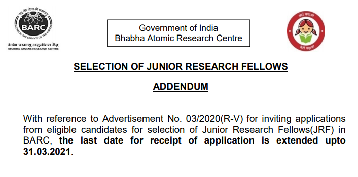 BARC JRF Extended Notice