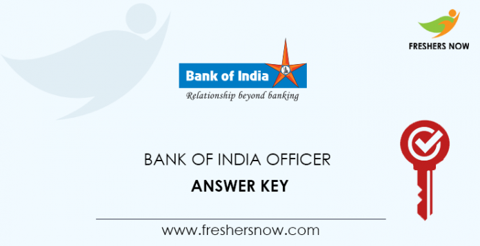 Bank-of-India-Officer-Answer-Key