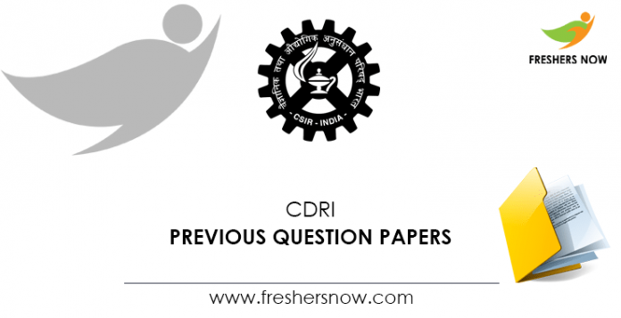 CDRI Previous Question Papers