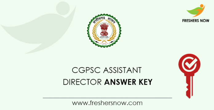 CGPSC-CGPSC Assistant Director Answer KeyAssistant-Director-Answer-Key