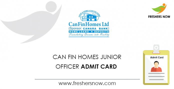 Can Fin Homes Junior Officer Admit Card