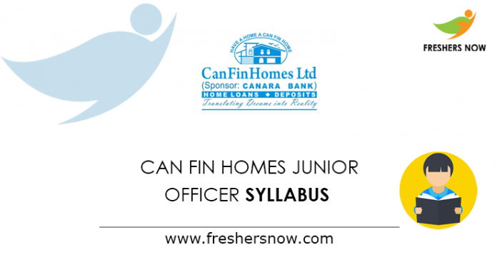 Can Fin Homes Junior Officer Syllabus