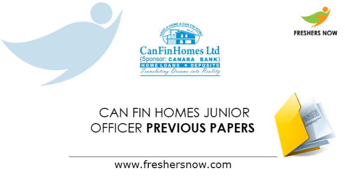 Can Fin Homes Limited Junior Officer Previous Question Papers