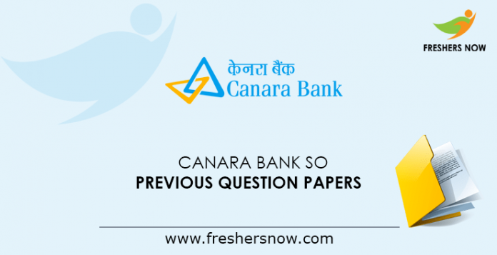 Canara Bank SO Previous Question Papers