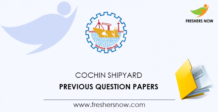 Cochin Shipyard Previous Question Papers