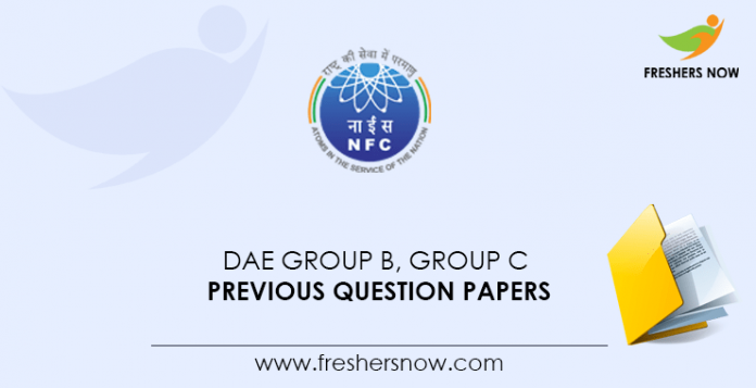 DAE Group B, Group C Previous Question Papers