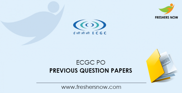 ECGC PO Previous Question Papers