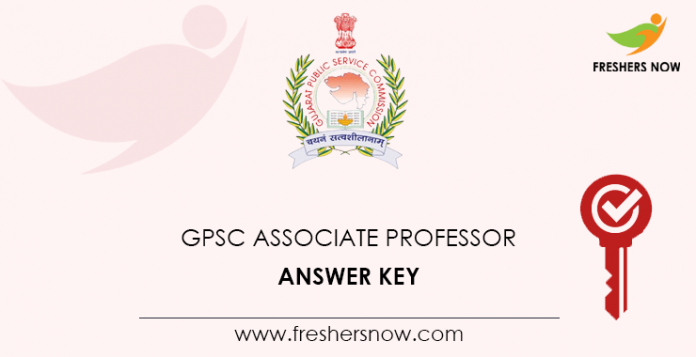GPSC Associate Professor Answer Key