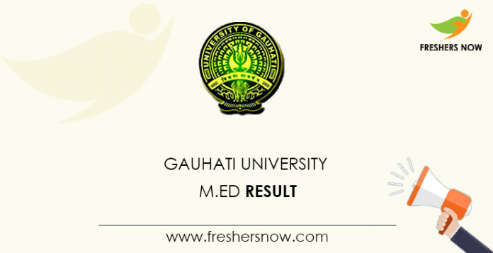 Gauhati University M.Ed Result
