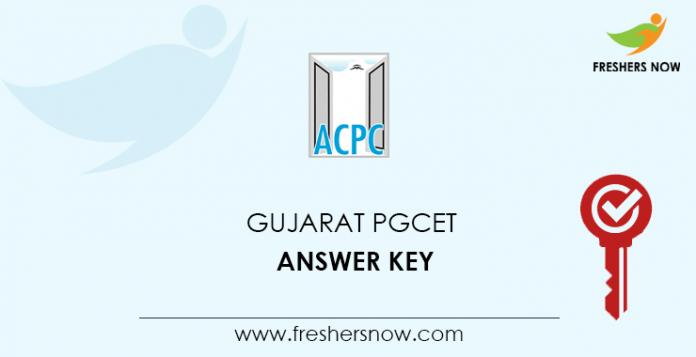Gujarat PGCET Answer Key