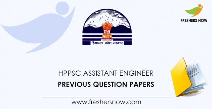 HPPSC Assistant Engineer Previous Question Papers