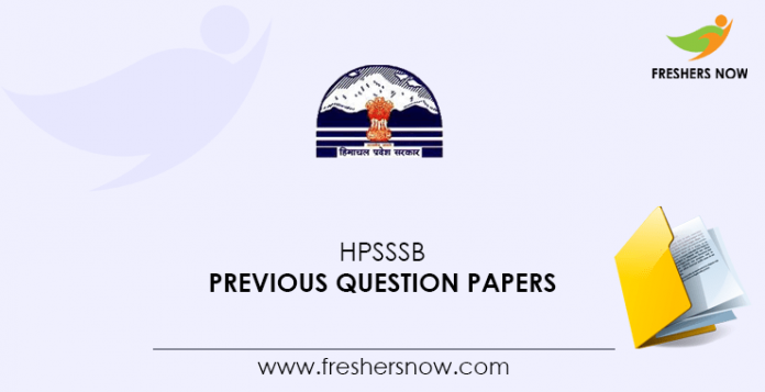 HPSSSB Junior Engineer, Junior Office Assistant, Ledge Keeper Previous Question Papers