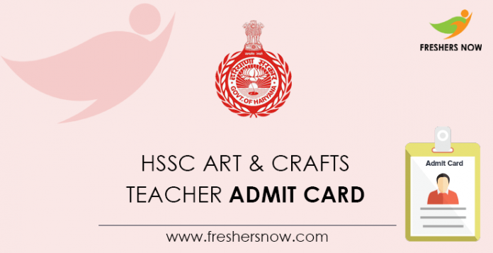 HSSC Arts & Crafts Teacher Admission Card