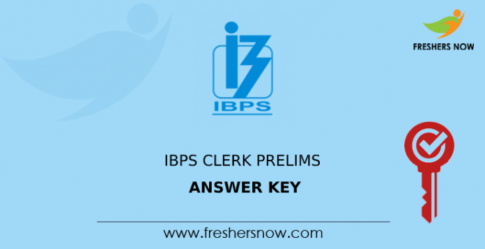 IBPS Clerk Prelims Answer Key