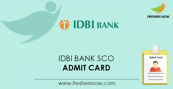 IDBI Bank SCO Admit Card