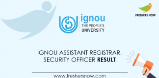 IGNOU-Assistant-Registrar,-Security-Officer-Result