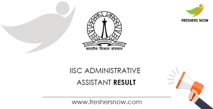 IISC-Administrative-Assistant-Result