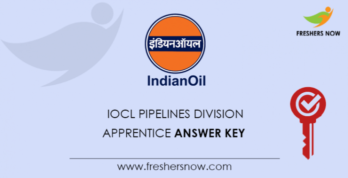 IOCL Pipelines Division Apprentice Answer Key